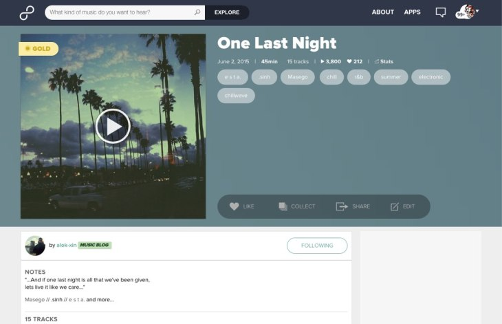 Web 4.0 - Playlist page