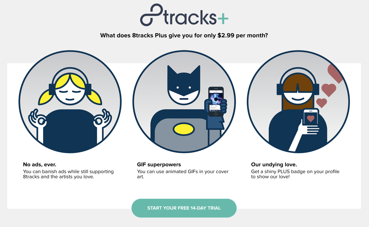 A shift for 8tracks in the US